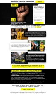 Création site internet Amnesty International