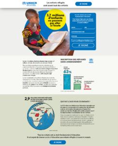 Création de site internet UNHCR